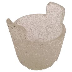 Antique Crackle Glass Trinket Vase, Salt, Sweetmeat with Double Handles ~ You are buying One but Four are available.