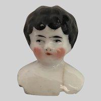 Antique Porcelain Doll Head  ~ Sweet Little Doll Head