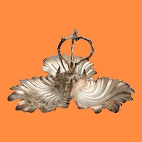 """Stunning Estate Vintage Silver Shells """"Three Part""""  Server ~ Lovely Heavy Silver-plate"""