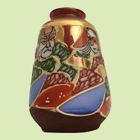 Satsuma Moriage  Miniature Vase