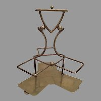 Vintage Estate  English  E P N S  Condiment  Holder ~ Holds Three Pieces