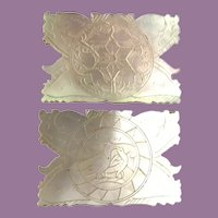 """Exquisite Antique Hand Carved """"BIRDS"""" Mother of Pearl Thread Winder  ~ Absolutely Gorgeous!"""