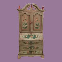 Vintage Miniature Painted Bookcase Cabinet   ~ Just Perfect for Your Doll or a Collection of Little Books