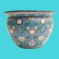 Antique Chinese Cloisonné Jardinière  ~ Wonderful Color & Pattern