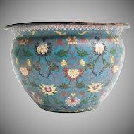 Gorgeous Antique Chinese Cloisonné Jardinière  ~ Wonderful Color & Pattern ~  It is a BEAUTY from My Treasure Vault