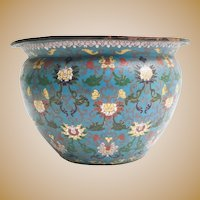 Gorgeous Antique Chinese Cloisonné Jardinière  ~ Wonderful Color & Pattern ~  It is a BEAUTY from My Treasure Vault