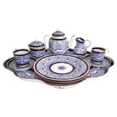 """19C Royal Worcester Tea Set  """"BLUE and WHITE""""  ~ Very Fine and Very RARE ~ An Exquisite Demitasse Set from my Treasure Vault"""