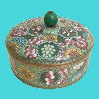 """Antique  6 ½"""" Chinese Cloisonné Box"""