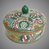"""Antique  6 ½"""" Chinese Cloisonné Box  ~ Stunning Colors ~"""