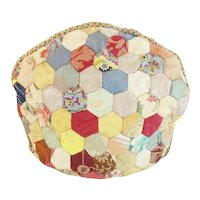 Antique Crazy Quilt Tea Cozy ~ A Delightful Tea Cozy ~ Smaller Size Tea Cozy with a Heavy Separate Lining