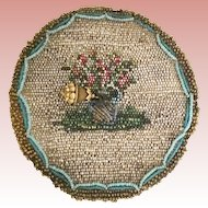 Antique English Beaded Tea Cup Cozy ~ A Charming Little Beaded Cozy to Cover Your Tea Cup to Keep the Tea Warm ~  A Rare and Wonderful Treasure