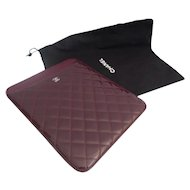 CHANEL Estate Pre Owned  IPAD Cover with the Dust Cover ~ GREAT COLOR