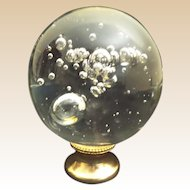 """5 ½""""  Newel Post """" BIG Control Bubbles""""  ~  Brass Mount ~ Another MAJESTIC Newel Post"""