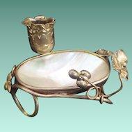 Palais Royal Mother of Pearl Trinket Dish
