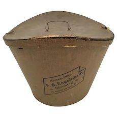 Antique Beaver Top Hat in Original Old Cardboard Hat Box