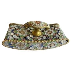 Antique French Cloisonné Blotter ~ A DESK Gem for Your Beautiful Desk
