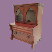 "Miniature Vitrine Curio Cabinet wTwo Drawers ~  Open the Doors and Display ( 2 ¾"" Deep  x  7""  x  4 ½"" H) Some Treasures"