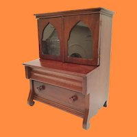 Miniature Vitrine Curio Cabinet wTwo Drawers ~  Open the Doors and Display Some Treasures
