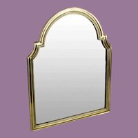"""17 ½"""" Antique Bronze Vanity Mirror Great Shape ~ Wonderful Arched Top Beveled Mirror ~ A  BEAUTY!"""