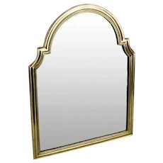 "17 ½"" Antique Bronze Vanity Mirror Great Shape ~ Wonderful Arched Top Beveled Mirror ~ A  BEAUTY!"