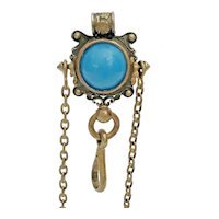 Antique Brass Jeweled Chatelaine Clip ~ CHARMING!