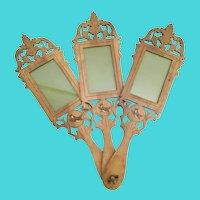 Charming Three Hand Carved Wood BIRD  Frames