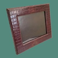 "14"" Faux Alligator/Crocodile Table Top Picture Frame ~  Wonderful Frame Ready to Display Your Prized Photo ~ Easel Back Stand is Sturdy."