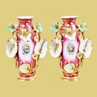 "Pair of Antique Porcelain ""Old Paris Vases"". Very Fine and A Very Special Pair of Vases."