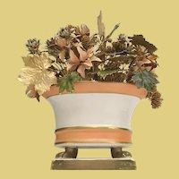 """9 ½"""" Jane Hutcheson Fleurs des Siècles Enameled Floral Arrangement ~ Fabulous Porcelain Bowl Footed Base"""