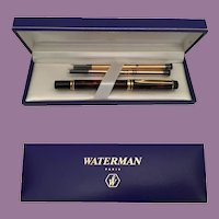 Waterman Rhapsody Le Man 200 Ballpoint Pen Mineral Red, Gold Trim ~ ORIGINAL BOX  and TAG