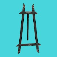 Antique Wood Ebonized  Hand Painted Table Top Easel for that Special Photo or Miniature Painting ~ IT IS A BEAUTY!