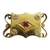 Big 14KARAT Diamond and Garnet Slide for Add A Slide Bracelet