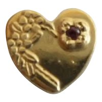 14KARAT Garnet Heart Slide for Add A Slide Bracelet