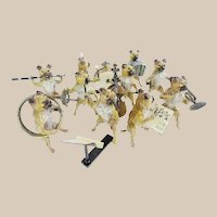 Antique Austria Pug Dog Band with Ten Musicians ~  YES…Ten Wonderful Pieces