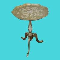 1950 Tiny Italian Gold Table...A Drink Table