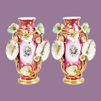 Exquisite Antique Porcelain Old Paris Vases   ~ A PAIR ~ Very Fine and A Very Special Pair of Vases