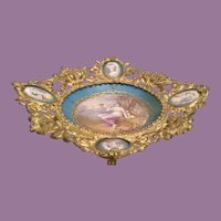 Antique French Ormolu Mounted  Porcelain Centerpiece ~ Sevres Style