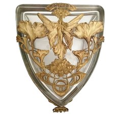 Magnificent Antique Empire Casket Hinged Box  ~ Figural Gilt Ormolu
