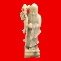 Vintage Chinese Carved Soapstone Figure