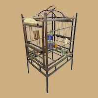 Antique Chinese Ornate Bird Cage ~ Perfect for a Little Prince Bird