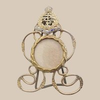 Royal Army Medical Corps Brass Enamel Easel Back Frame ~  Ready for Your  Photo ==CLOSEOUT==