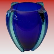 Grand Murano Tina Aufiero for Venini Winged Art Glass Vase