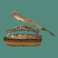 Charming Fancy Sterling Nail Buffer and Cuticle Blade