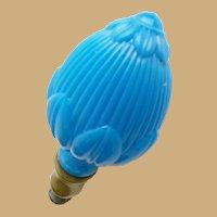 """Antique French Blue Opaline Newel Post Finial """"Boule Escalier""""  ~ Super Rare Shape ~ A SUPER Gorgeous Piece of Opaline"""