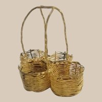 Darling and Charming Antique French Gilt Ormolu Thimble or Perfume Basket