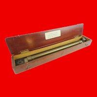 Antique English Navigator's Roller Ruler ~ Original Mahogany Wood Box ==CLOSEOUT==
