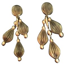 "Wild and Crazy ""BRONZE "" Clip Earrings"