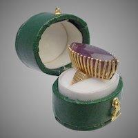 """Exquisite Estate Marquise-cut Amethyst Ring  """"14 Karat Unique Mounting"""""""