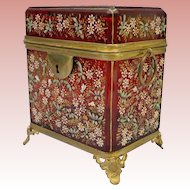 Magnificent Moser Double Handle Casket Hinged Box ~ A MASTERPIECE from My Treasure Vault
