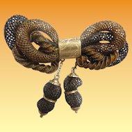 "Victorian 14KARAT Hair Broach Pin Dated April 8, 1887 ""A MASTERPIECE"""